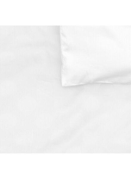 dekbedovertrek - hotel katoen satijn - 140 x 200 cm - wit stip wit 140 x 200 - 5710044 - HEMA