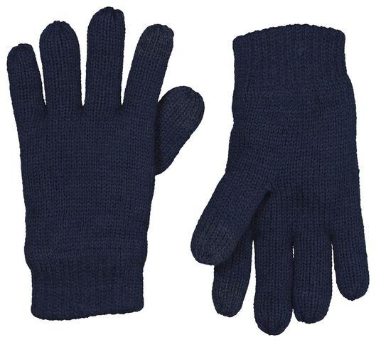 kinderhandschoenen donkerblauw 110/116 - 16750171 - HEMA