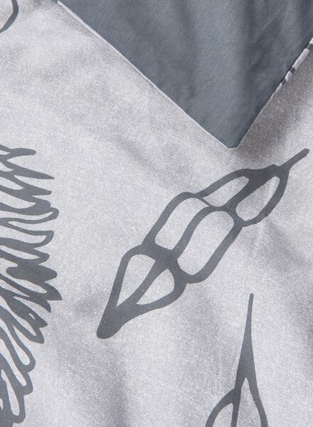 dekbedovertrek - zacht katoen - veren grijs grijs - 1000014114 - HEMA