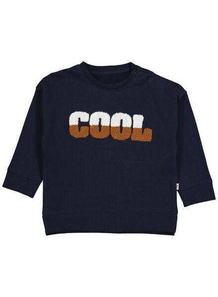 babysweater donkerblauw donkerblauw - 1000014254 - HEMA