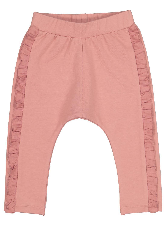 HEMA Baby Sweatbroek Met Ruche Roze (roze)