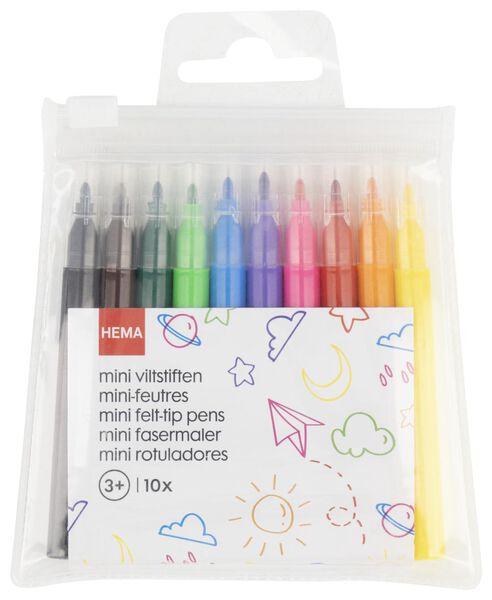 viltstiften mini - 10 stuks - 15990191 - HEMA