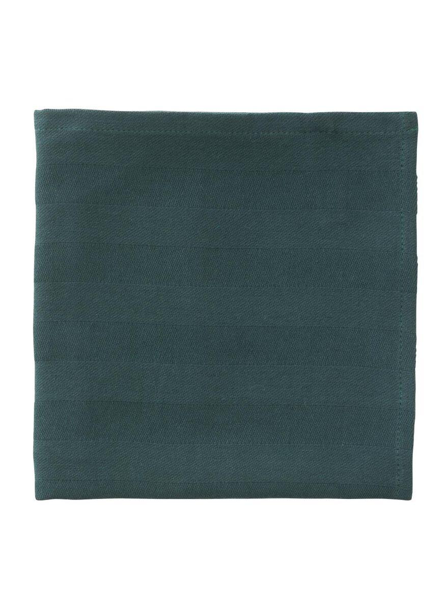 8 stuks.  Theedoek - 65 x 65 - katoen - groen