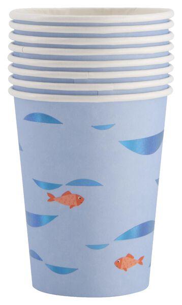 papieren bekers - 250 ml - onder water - 8 stuks - 14200321 - HEMA