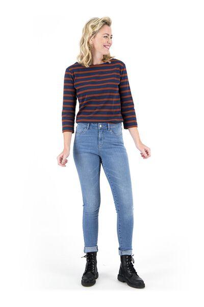 dames jeans - skinny fit lichtblauw 38 - 36307528 - HEMA