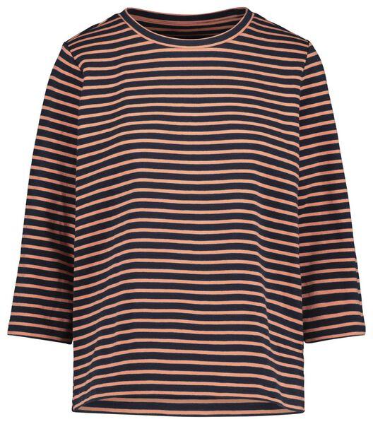 dames t-shirt donkerblauw donkerblauw - 1000019573 - HEMA