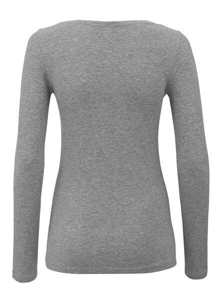 dames t-shirt lichtgrijs lichtgrijs - 1000005409 - HEMA