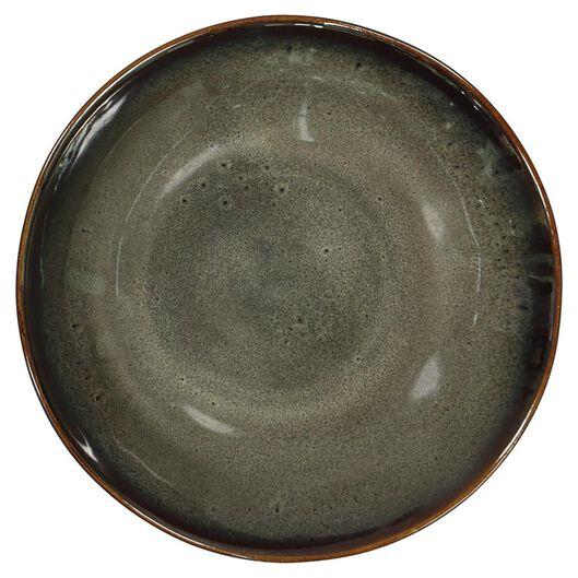 schaal - 14 cm - Porto - reactief glazuur - taupe - 9602053 - HEMA