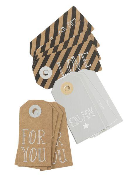 12-pak cadeau labels - 14700035 - HEMA