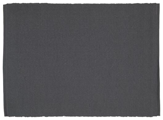 Placemats - 42 x 32 - katoen - grijs - 2 stuks - in Placemats