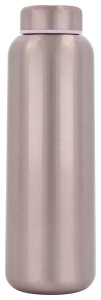 dubbelwandige fles RVS roze 450 ml - 80660002 - HEMA