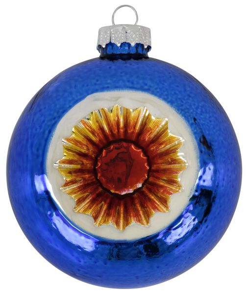 kerstbal glas Ø 8 cm blauw - 25103820 - HEMA