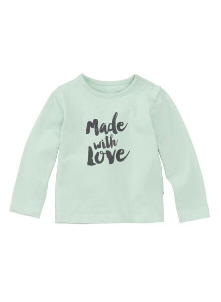 newborn baby t-shirt mintgroen mintgroen - 1000011140 - HEMA