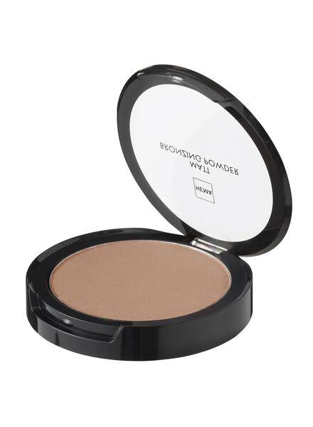 matt bronzing powder dark - 11294003 - HEMA