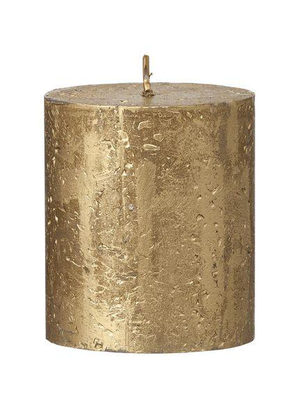 rustieke kaarsen goud goud - 1000015405 - HEMA