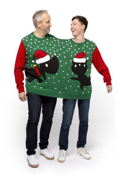 heren kersttrui voor 2 personen donkerblauw - 1000017224 - HEMA