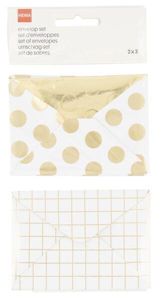 Enveloppen - 7x10 - 6 stuks - in Cadeauverpakkingen