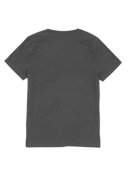 heren t-shirt grijsmelange - 1000006012 - HEMA