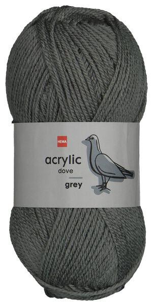 garen acryl 100gram grijs medium 100 g grijs - 1400192 - HEMA