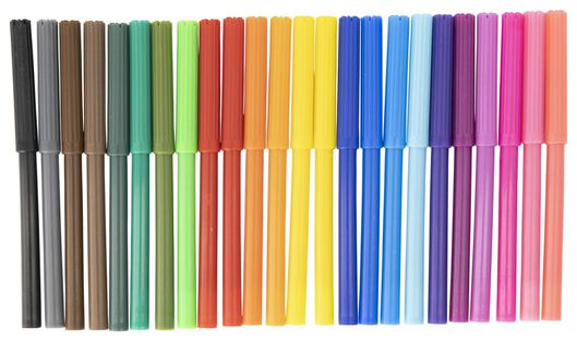 viltstiften uitwasbaar - 24 stuks - 15900016 - HEMA