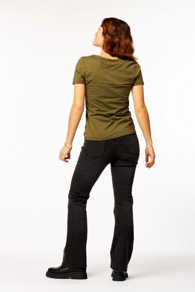 dames t-shirt olijf L - 36314783 - HEMA