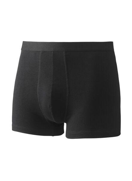 3-pak herenboxers kort zwart zwart - 1000009097 - HEMA