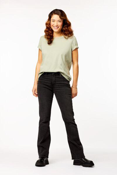 dames t-shirt lichtgroen - 1000023510 - HEMA