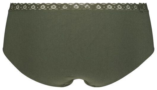 dameshipster naadloos kant groen groen - 1000020987 - HEMA