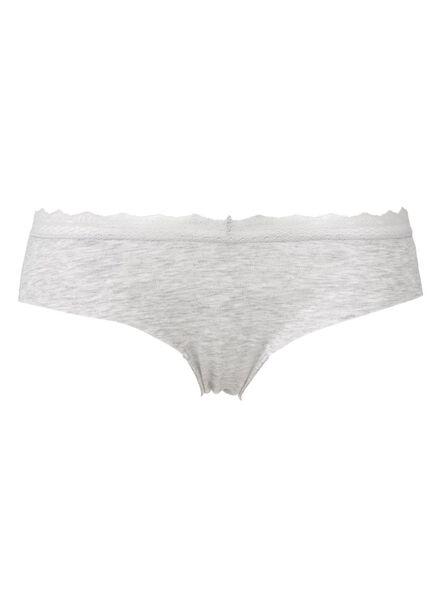dameshipster katoen grijsmelange grijsmelange - 1000013169 - HEMA