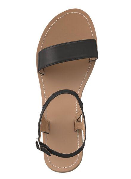 dames sandalen zwart zwart - 1000013313 - HEMA