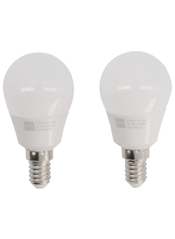 HEMA LED Lamp 25W 250 Lm Kogel Helder 2 Stuks (wit)