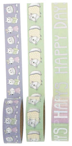 washi tapes - 3 stuks - 14502120 - HEMA