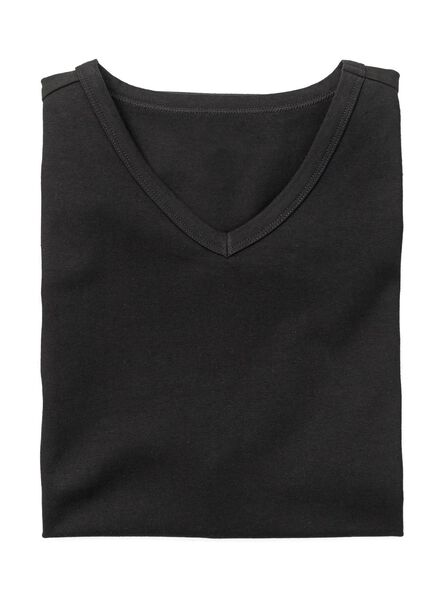 heren t-shirt slim-fit zwart zwart - 1000005981 - HEMA