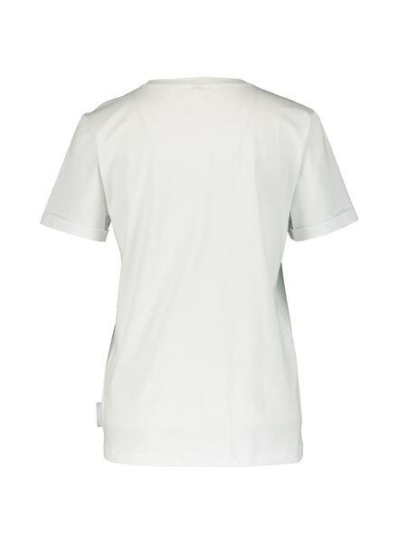 dames t-shirt Takkie feestbeest wit L - 36299726 - HEMA