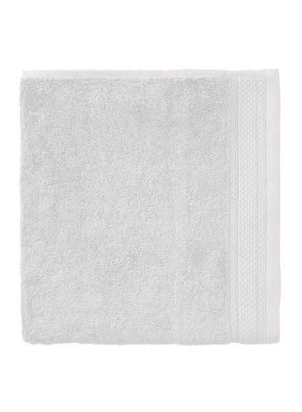 handdoek - 60 x 110 cm - hotel extra zwaar - lichtgrijs uni lichtgrijs handdoek 60 x 110 - 5240199 - HEMA