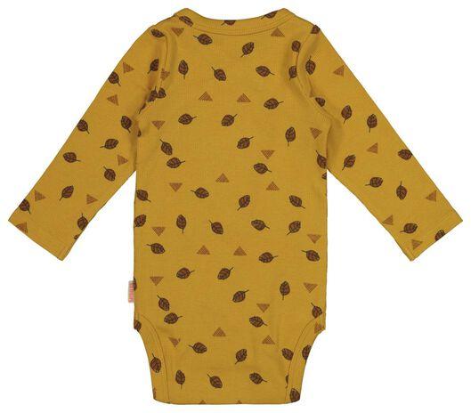newborn overslagromper met bamboe geel geel - 1000017636 - HEMA