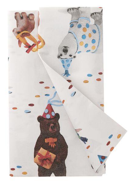 tafelkleed - 138 x 220 - papier - feestende dieren - 14230084 - HEMA
