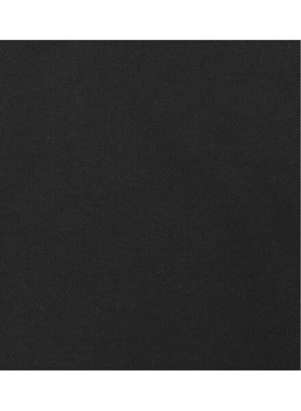herenpolo biologisch katoen zwart zwart - 1000006094 - HEMA