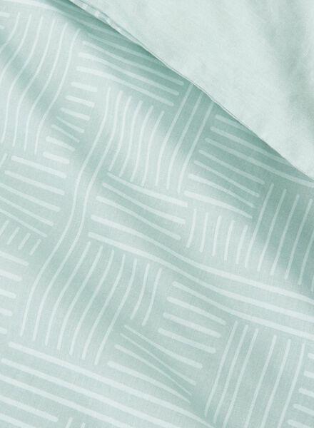 dekbedovertrek - zacht katoen - 140 x 200 cm - groen print - 5750013 - HEMA