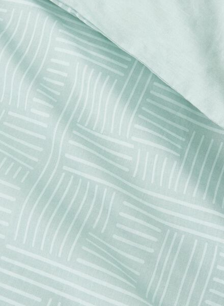 dekbedovertrek - zacht katoen - 240 x 220 cm - groen print - 5750015 - HEMA