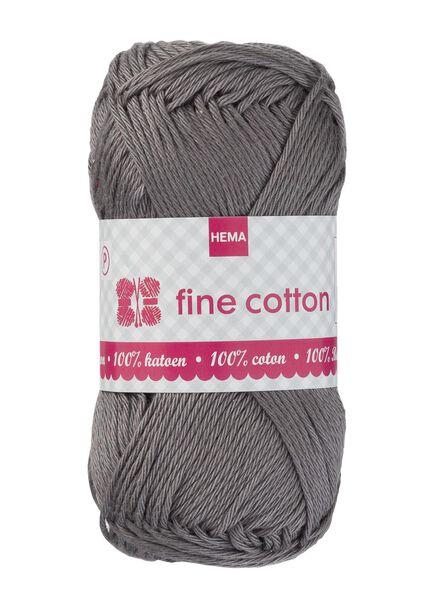 breigaren fine cotton - grijs - 1400169 - HEMA