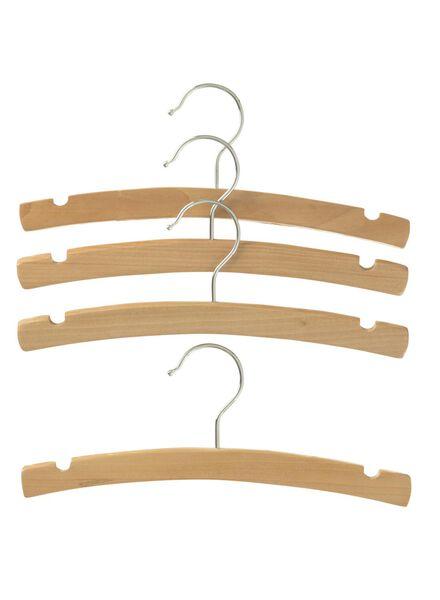 4-pak houten kinderhangers - 39890008 - HEMA