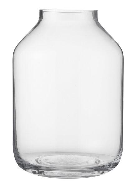 vaas - 22.5 x Ø 14 cm - transparant glas - 13380012 - HEMA