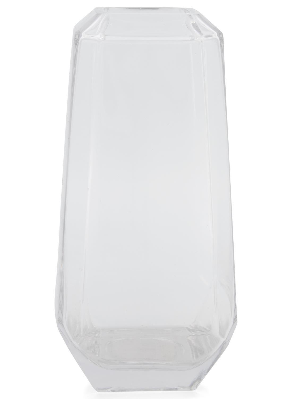 HEMA Vaas - 31 Cm - Transparant Glas Facet (transparant)