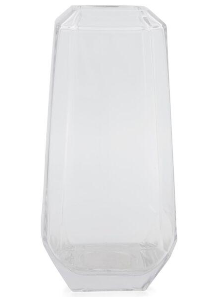 vaas - 31 cm - transparant glas facet - 13392026 - HEMA