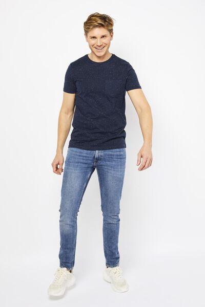heren t-shirt donkerblauw donkerblauw - 1000021570 - HEMA