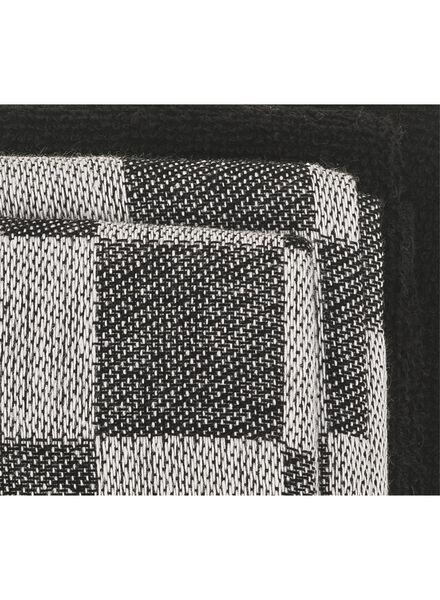 thee-en keukendoeken - katoen - zwart - 4 stuks - 5450021 - HEMA