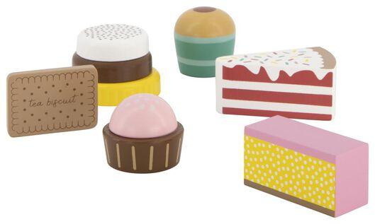 taartjes hout - 6 stuks - 15130116 - HEMA
