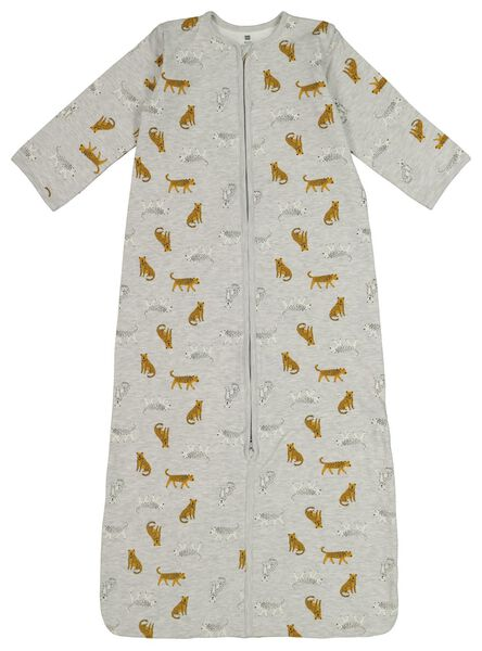 babyslaapzak non-padded - afritsmouw - tijgers grijsmelange grijsmelange - 1000017642 - HEMA