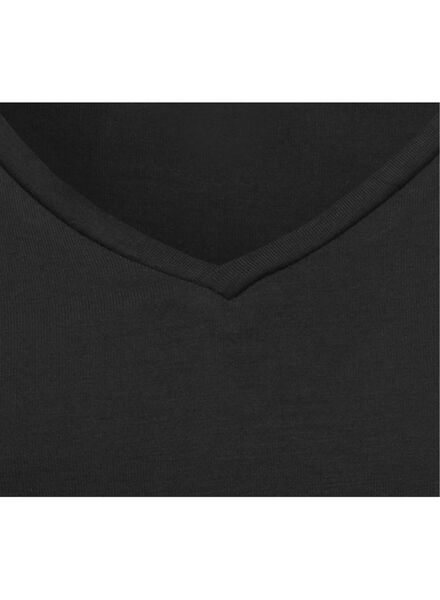 dames nacht t-shirt zwart zwart - 1000002885 - HEMA